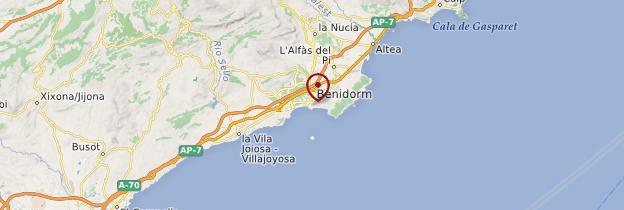 Carte Benidorm - Espagne