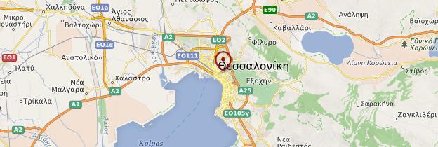 Carte Thessalonique (Thessaloniki) - Grèce