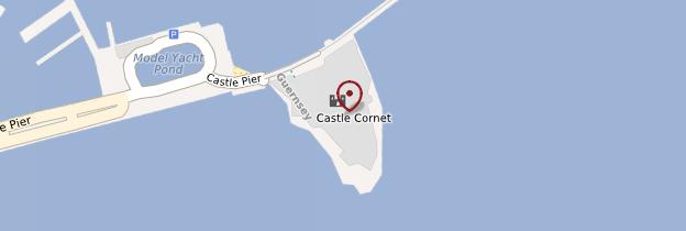 Carte Castle Cornet - Îles Anglo-Normandes