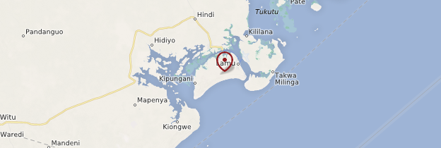 Carte Île de Lamu - Kenya