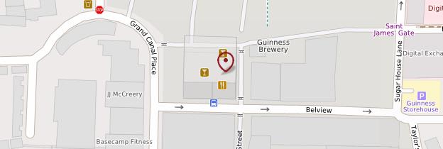 Carte Guinness Storehouse - Dublin
