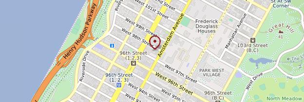 Carte West Side et Upper West Side - New York