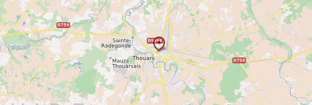 Carte Thouars - Poitou-Charentes