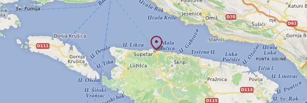 Carte Supetar - Croatie