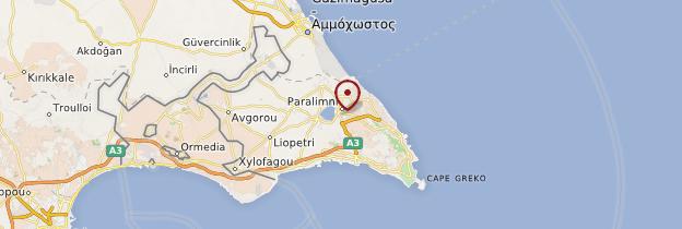 Carte Paralimni - Chypre
