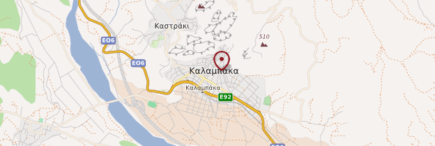 Carte Kalambaka - Grèce