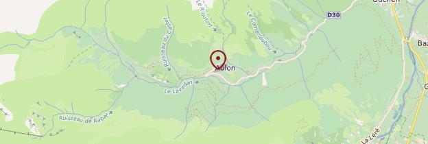 Carte Aulon - Midi toulousain - Occitanie