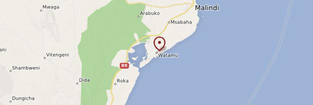 Carte Watamu - Kenya
