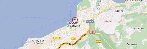 Carte Thonon-les-Bains - Alpes
