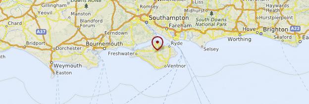 Carte Hampshire Angleterre.Ile De Wight Hampshire Et Wiltshire Guide Et Photos