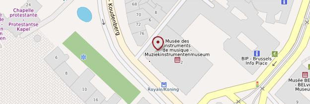 Carte Musée des Instruments de musique - Bruxelles