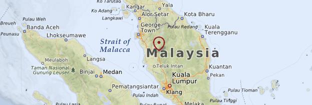 Carte Ipoh - Malaisie