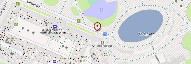 Carte Autour de Karlsplatz - Vienne