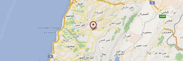 Carte Beiteddine - Liban
