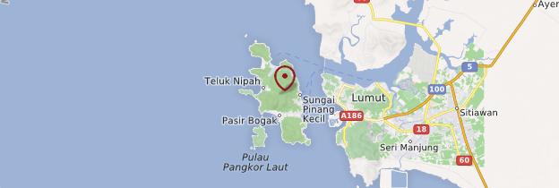 Carte Île de Pangkor - Malaisie