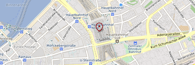 Carte Gare de Hambourg - Allemagne