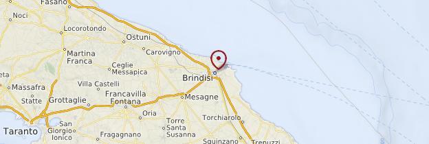 Carte Brindisi - Italie