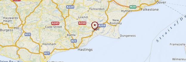 Carte Rye - Angleterre