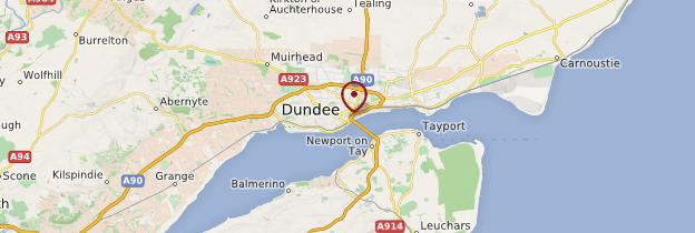 Carte Dundee - Écosse