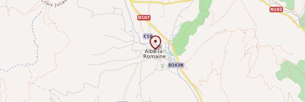 Carte Alba-la-Romaine - Ardèche, Drôme