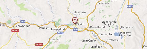 Carte Brecon (Aberhonddu) - Pays de Galles