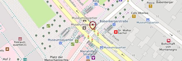 Carte MuseumsQuartier (Quartier des Musées) - Vienne