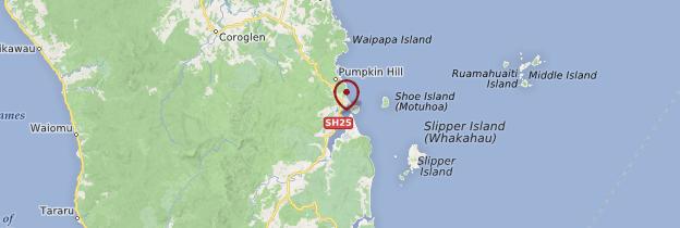 Carte Tairua - Nouvelle-Zélande