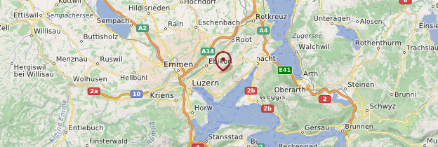 Carte Adligenswil - Suisse