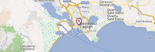 Carte Cagliari - Sardaigne