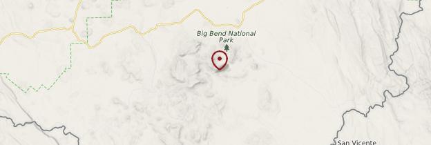 Carte Big Bend National Park - États-Unis