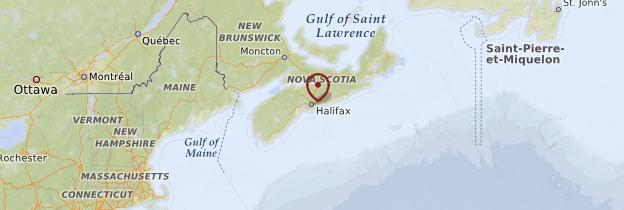 Carte Halifax - Canada