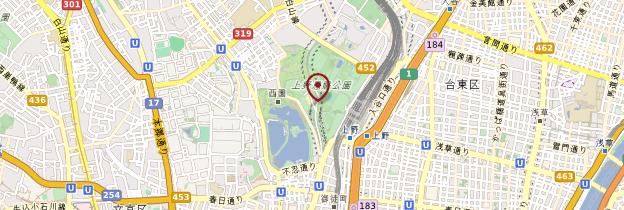 Carte Parc d'Ueno - Tokyo
