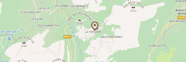 Carte Les Aillons - Alpes