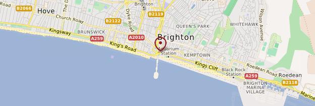 Carte Brighton - Angleterre