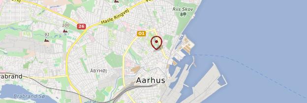 Carte Aarhus - Danemark