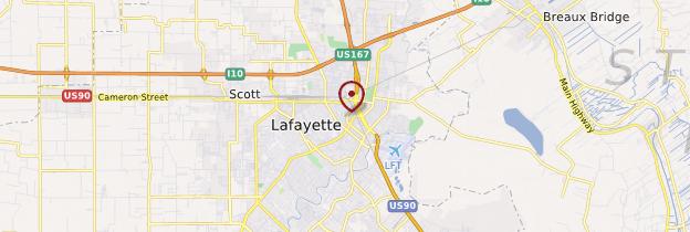 Carte Lafayette - Louisiane