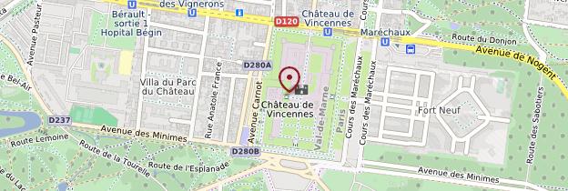 Carte Château de Vincennes - Île-de-France