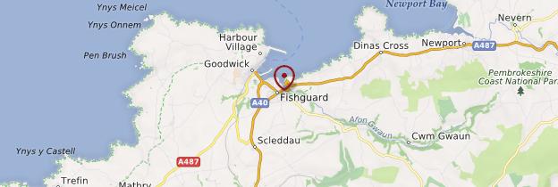 Carte Fishguard - Pays de Galles