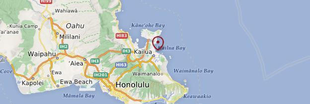 Carte Kailua - Hawaii