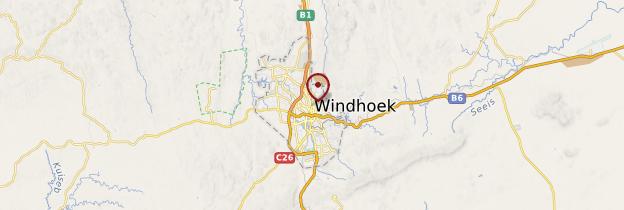 Carte Windhoek - Namibie
