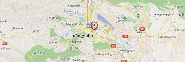 Carte Tbilissi - Géorgie