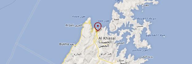 Carte Khasab - Oman