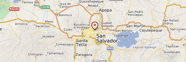 Carte San Salvador - Salvador