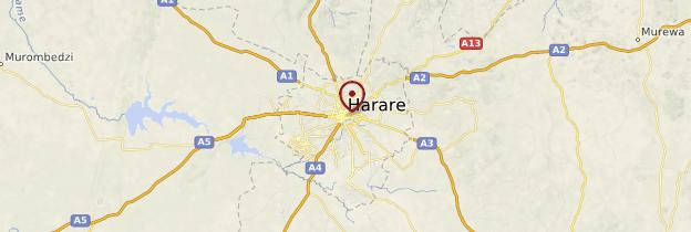 Carte Harare - Zimbabwe