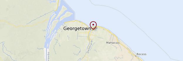 Carte Georgetown - Guyana