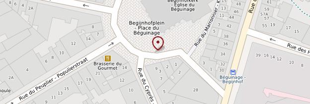 Carte Eglise Saint-Jean-Baptiste-du-Béguinage - Bruxelles