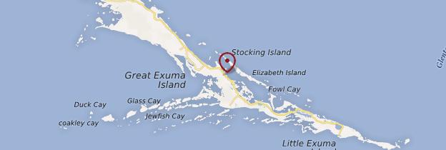 Carte George Town - Bahamas