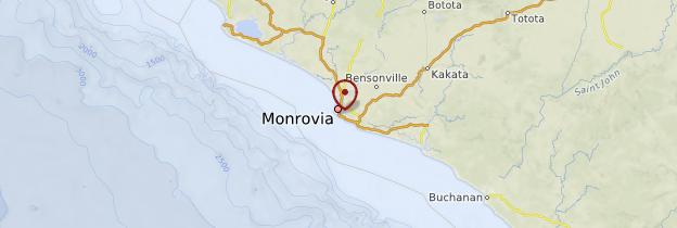 Carte Monrovia - Libéria