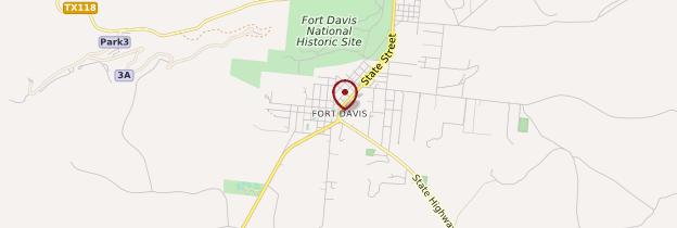 Carte Fort Davis - États-Unis