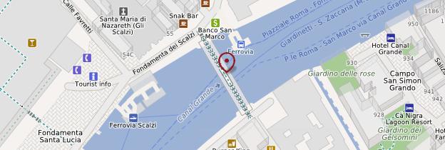 Carte Ponte degli Scalzi - Venise
